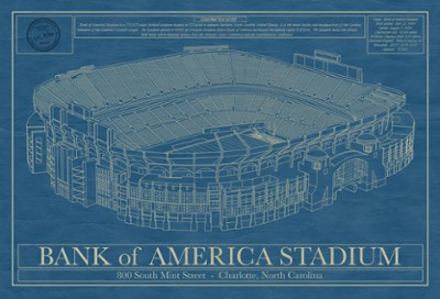 Bank of America Stadium Blueprint