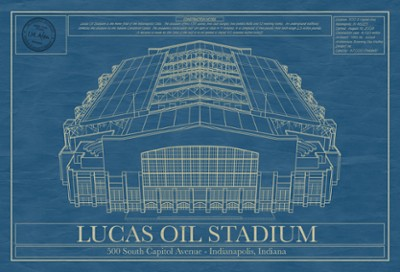 Lucas Oil Stadium Blueprint Wall Art