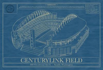 Centurylink Field Blueprint Art