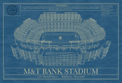 M&T Bank Stadium Blue Print Art