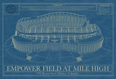 Empower Field at Mile High Blueprint