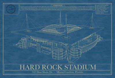 Hard Rock Stadium Blueprint