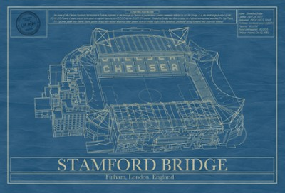 Stamford Bridge stadium blueprint