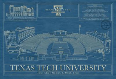 Jones At T Football Stadium Blueprint Blueprint Artwork