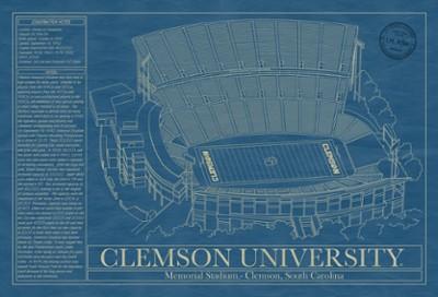 Memorial Stadium Blueprint Wall Art